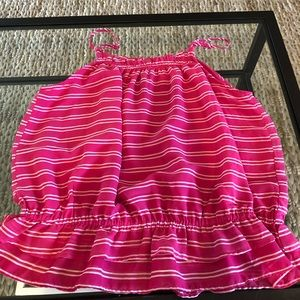 Banana Republic pink and white strip cami blouse